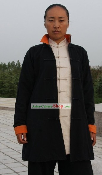 Professional Kung Fu Tai Chi Master Cotton Dust Coat Clothing