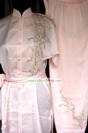 Supreme Embroidered Plum Blossom Tai Chi Clothes Set