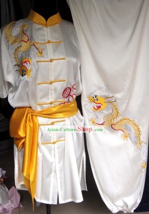 Short Sleeve Sifu Embroidered Dragon Tai Chi Uniform