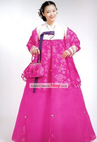 Supreme Traditional Korean Wedding Dress Complete Set for Bride