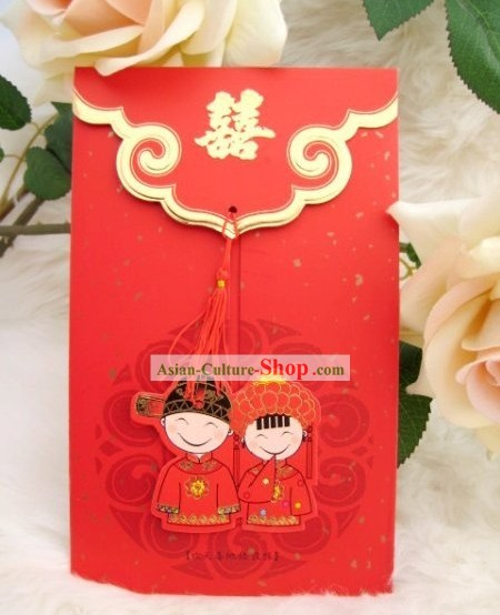 Traditoinal Chinese Wedding Invitations 20 Pieces Set