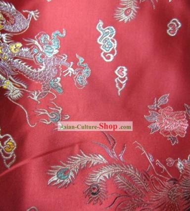 Chinese Traditional Dragon Brocade Fabric