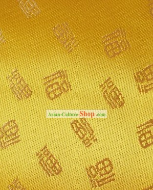 Lucky Fu Gold Fabric