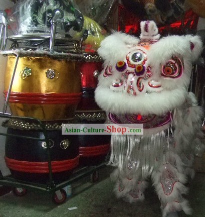 Competition and Parade HOK SAN Lion Dance Costumes Complete Set