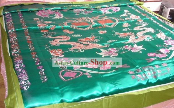 Chinese Traditional Wedding Dragon Phoenix Quilt Cover