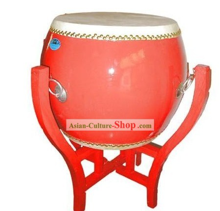 Dragonboat Drum/War Drum/Standing Drum/Flat Red Drum/Bian Drum and Drum Stand Complete Set