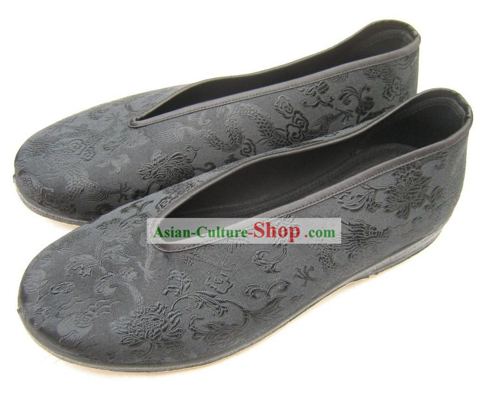 Chinese Traditional Shoes for Men/Classic Dragon Shoes