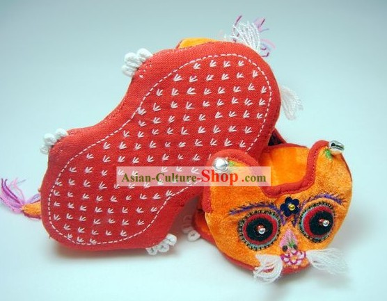 Handmade Tiger Head Small Shoes/Shoes Miniature for Baby
