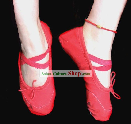 Tradicional Ballet Shoes Red