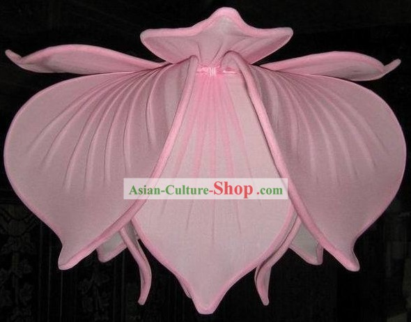 Chinese Classical Lotus Fabric Lanterns/Lotus Ceiling Lantern