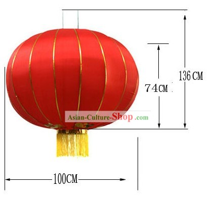 59 Inch Large Traditional Red Lanterns/Large Outdoor Lantern
