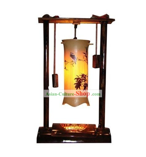 Chinese Hand Made Bamboo Table Lanterns