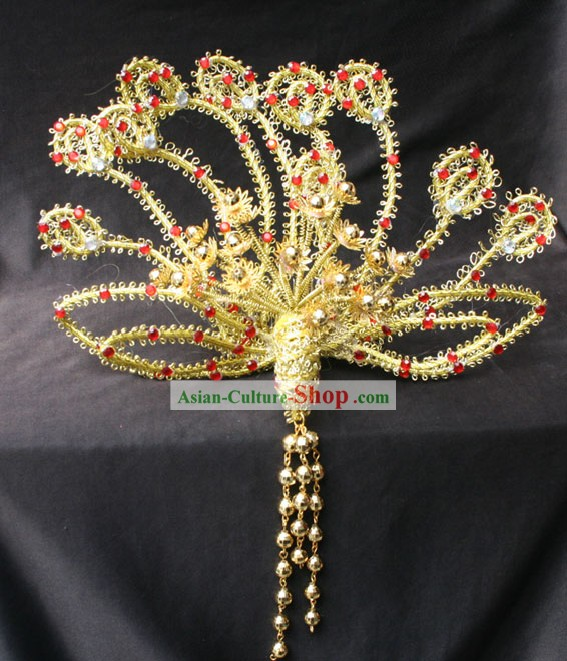 Hand Made Chinese Phoenix Wedding Hairdress