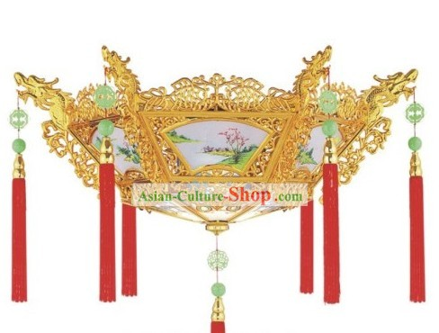 Chinese Electric Dragon Phoenix Ceiling Lantern