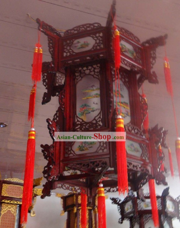 Chinese Three Layers Hexangular Palace Lantern
