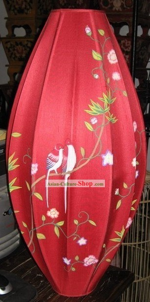 Hand Painted Chinese Silk Hanging Lantern