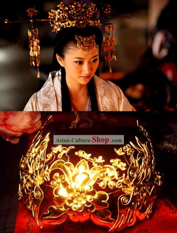 Handmade Tang Wedding Empress Phoenix Crown/Chinese Wedding Hat