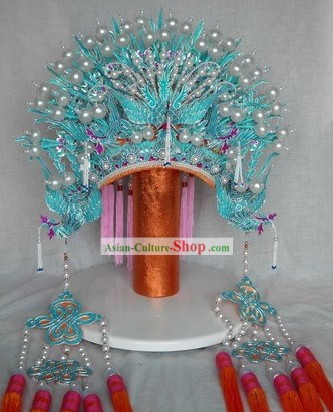 Supreme Chinese Traditional Three Phoenix Crown