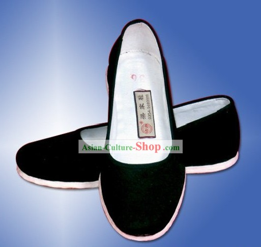 Chinese Traditional Plain Black Cloth Shoes