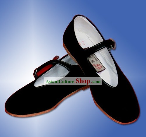 Chinese Traditional Handmade Black Cloth Shoes
