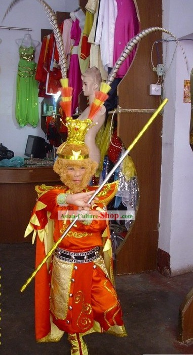 Hairy Monkey Sun/Monkey King Costume/Monkey Costume Set with Monkey Shoes