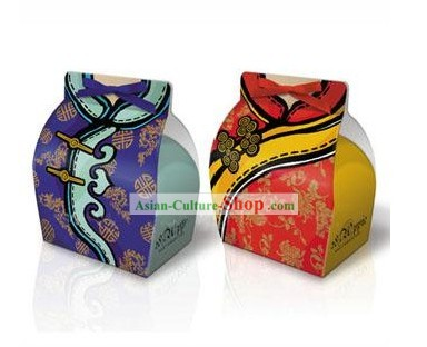 Traditional Chinese Style Wedding Candy Favors Box 30 Pieces Set