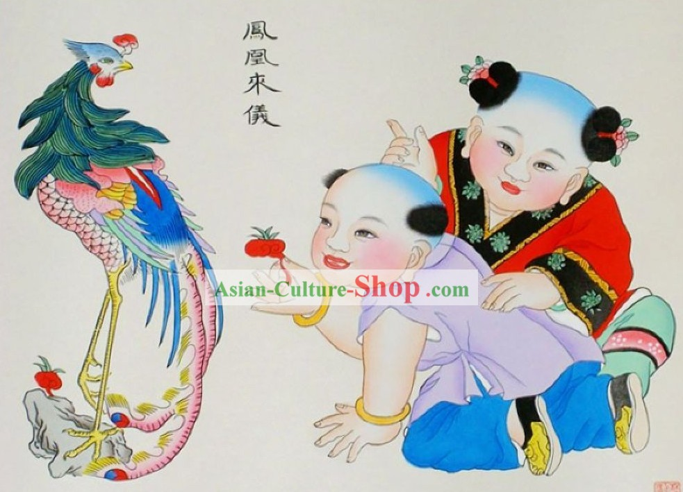 Yangliuqing Folk Painting/Chinese New Year Paintings - Phoenix Painting