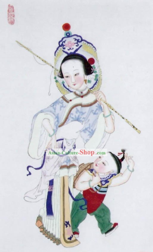 Tianjin Folk Painting fo Mother and Child