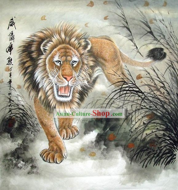 Paintings of Chinese Lions