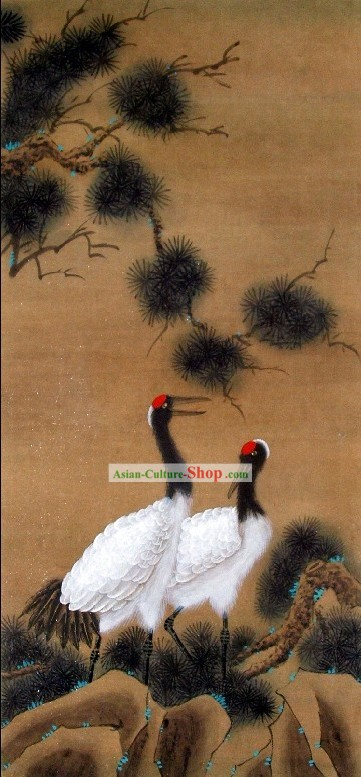 Traditional Chinese Crane Paintings by Qin Shaoping