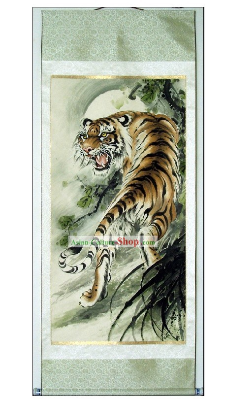 Tradicional China King Tiger Pintura de Lin Mingqing