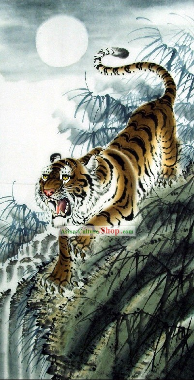 La pintura tradicional china de Wang Tiger Yongchang