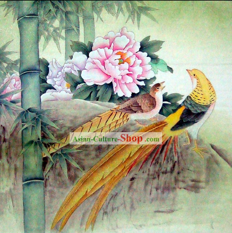 Traditional Chinese Birds Painting by Liu Lanting