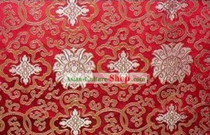 Traditional Red Silk Fabric