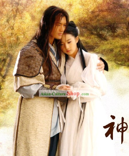 Chinese Ancient Swordsman Clothing Whole Set in The Return of the Condor Heroes costume