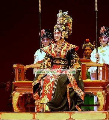 China First Women Emperor Wu Zetian  Costumes and Hat Whole Set
