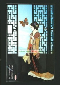 Handmade Real Butterfly Wing Painting - Ancient Beauty