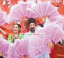 Chinese Traditional Large Flower Dance Fan
