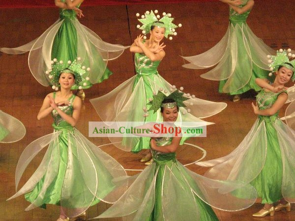 Traditional Jasmine Flower Dance Costumes Complete Set