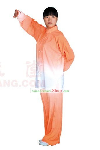 Chinese Professional Color Transition Wu Shu Tai Chi Uniform Complete Set