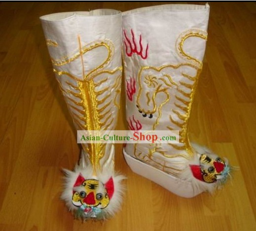 Chinese Classical Handmade Embroidered Tiger Boots