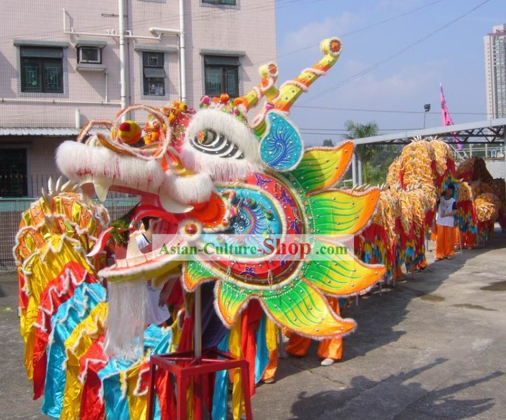 Large Chinese Classical Dragon Dance Equipments Complete Set for 40 People