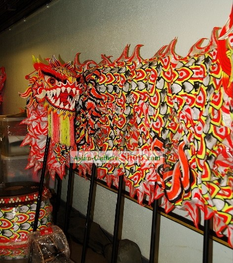 Classique chinoise Costumes lumineux Dragon Dance and Drum Set complet
