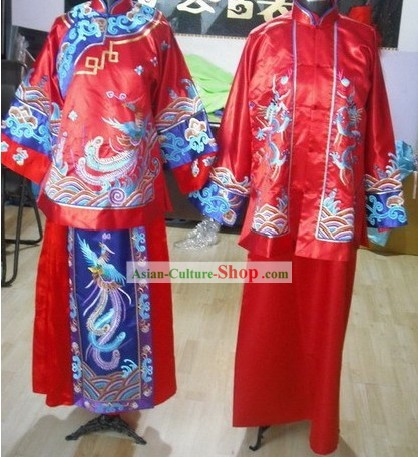 Made to Order China Traditional Wedding Costumes 2 Sets