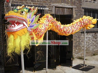 Traditional Chinese Dragon Dance Costumes Complete Set for 3 or 4 People