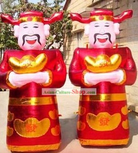 Large Money God Inflatable Pair
