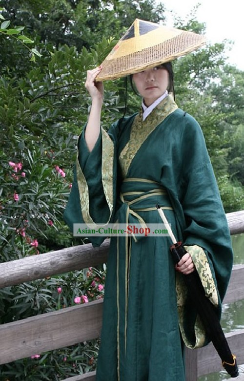 Chinese Ancient Swordsman Dress and Hat Set