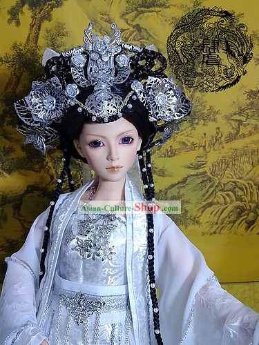 Chinese Stunning Empress Clothing and Hair Decoration Full Set
