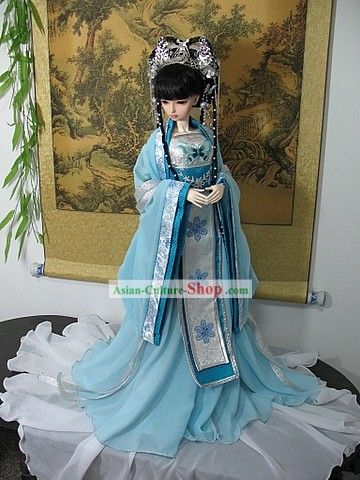 Chinese Traditional Long Empress Costumes Complete Set