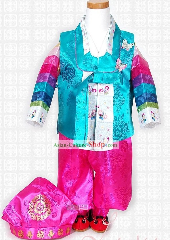 Traditional Korean Birthday Hanbok Set for Boys